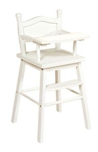 Doll High Chair in White
