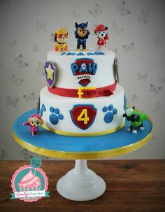 Paw patrol cake by www.candyscupcakes.co.uk
