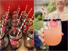 mason jar drinks // striped straws