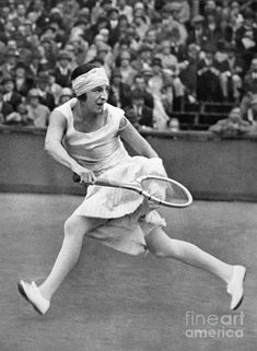 France. Suzanne Lenglen (1899-1938), 1920s french tennis player