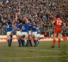 Rangers 2 Aberdeen 1 in March 1979 at Hampden Park. Colin Jackson is mobbed after his winning goal in the Scottish League Cup Final. Hampden Park, Rangers Fc, Aberdeen, Glasgow, Finals, Jackson, March, Soccer, Sports