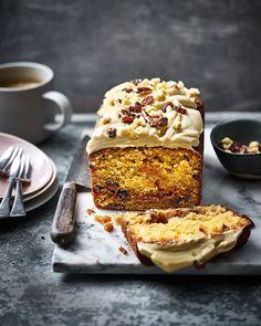 Salted caramel loaf cake   delicious. magazine Caramel Treats, Caramel Recipes, Chocolate Recipes, Caramel Cakes, Chocolate Caramel Cake, Easy Cake Recipes, Baking Recipes, Dessert Recipes, Loaf Recipes