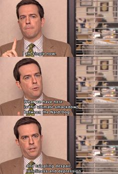 "Community Post: 20 Signs You're Andy Bernard From ""The Office"" When It Comes To Dating Best Of The Office, The Office Show, The Office Andy, Parks N Rec, Parks And Recreation, Andy Bernard, Office Jokes, Dunder Mifflin, Michael Scott"