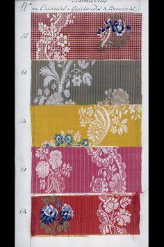 MUSTERBUCH (TEXTILIEN) DEP-3948 Musterbuch (Textilien). Usteri und Söhne. S/H Musterbücher Nr. 1. 1772. Masse: Höhe 38 cm, Breite 25 cm, Tiefe 5 cm. (DEP-3948)