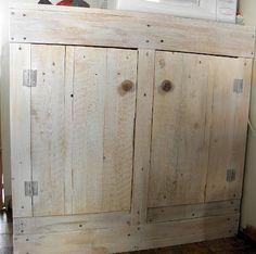 $10 DIY Pallet Cabinet  Kitchen, Bathroom, crafts, etc.