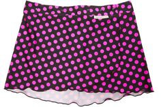 Fast 'N Flirty- Dot Dot Dot Pink Running Skirt