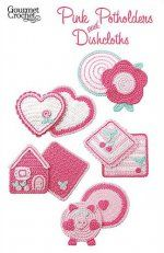 Pink Potholders and Dishcloths
