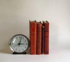 Vintage Set of Four RED Books  Home Decor by HeartlandVintageShop, $24.99