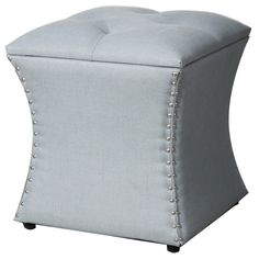 New Pacific Direct Amelia Nailhead Ottoman