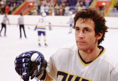 Ned looks up to his wife after scoring a goal. Slap Shot, Films, Movies, Looking Up, Goal, Film Books, Film Books, Movie, Movie