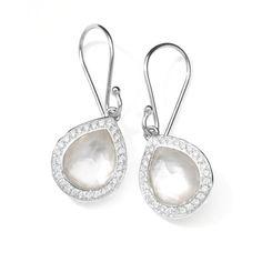 0b43495d0 Ippolita Rock Candy Teardrop Earrings in Mother-of-Pearl Doublet with  Diamonds,