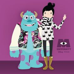 { Yesterday, I met my blue love  lubi & sulley! Ahahaha!