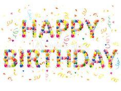 Decorative balloons Happy Birthday