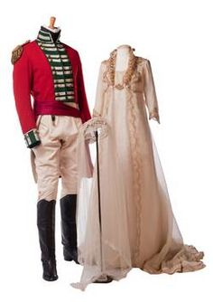 """Worn by Kate Winslet and Alan Rickman for the wedding at the end of """"Sense and Sensibility"""", designed by Jenny Beavan and John Bright"""