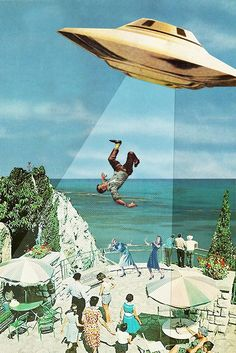 UFO Abduction via Eugenia Loli Collage. Click on the image to see more!