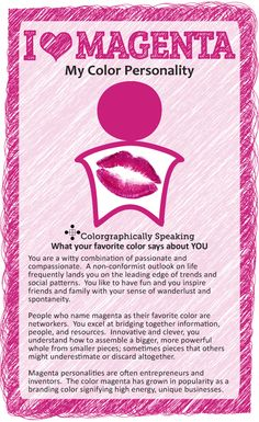 Passionate about pink colorgraphically speaking what your for Pink color psychology