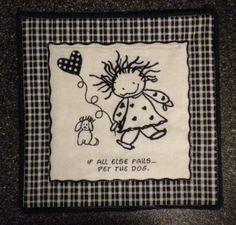 Candle Mat or Mug Rug If All Else Fails by GrandpaGrandmasAttic, $4.50