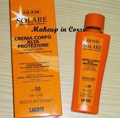GUAM Solare Crema Corpo Alta protezione http://makeup-incorso.blogspot.it/2014/08/guam-solare-crema-corpo-alta-protezione.html