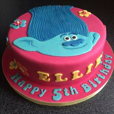 Trolls cake Branch