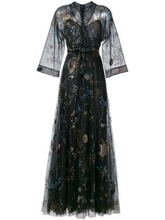 Shop Valentino 'Astro Couture' evening dress in Browns from the world's best independent boutiques a. Designer Evening Dresses, Formal Evening Dresses, Evening Gowns, Prom Dresses, Formal Gowns, Sleeve Dresses, Pretty Dresses, Beautiful Dresses, Mode Hippie