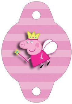 Enfeite Canudinho Peppa Pig Princesa: