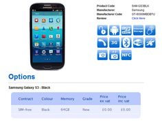 Samsung Galaxy S III Black version 64GB will be available in October