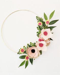 Felt Wreath - HouseBeautiful.com