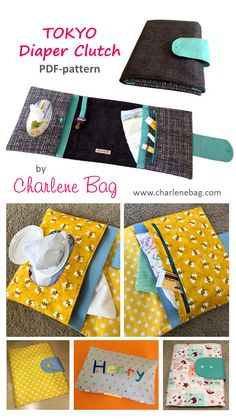 Diaper Clutch, nappy wallet, learn how to make a diaper clutch, step-by-step sewing tutorial for a useful and unique diaper clutch, nappy wallet, diaber bag, baby bag