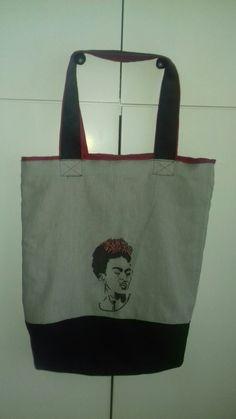 Lniana torba z grafika Reusable Tote Bags