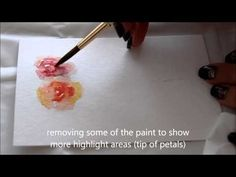 How to paint soft roses in watercolour - wet on wet - YouTube