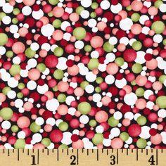 Poppy Panache Watercolor Circles Red/Green