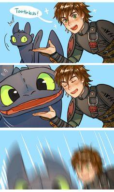 How to train your Dragon by Kadeart Httyd Dragons, Cute Dragons, How To Train Dragon, How To Train Your, Cute Comics, Funny Comics, Cute Disney, Disney Art, Disney And Dreamworks