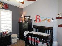 If I ever have a baby boy (fingers cross) this will be his room but I would change the wall color to blue