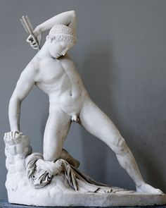 Niobė blessé-one of Niobė's sons hit by an arrow in his back fired by Artemis - James Pradier 1822
