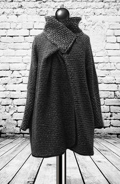Midi Mix Coatigan in Grey