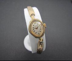 Vintage 1936 Art Deco 14K Gold GRUEN PRECISION Ladies Wrist Watch 17J - Antique #Gruen