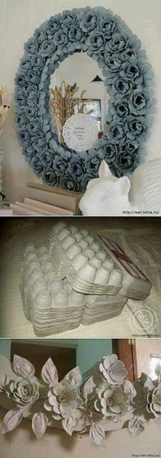Egg Carton Ideas - Informations About Ideas con Cartón de Huevos Pin You can easily use my profil - Flower Crafts, Diy Flowers, Paper Flowers, Diy And Crafts, Arts And Crafts, Paper Crafts, Diy Projects To Try, Craft Projects, Fleurs Diy