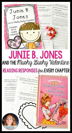 Junie B. Jones and the Mushy Gushy Valentine: Book Study Distance Learning Comprehension Activities, Reading Activities, Reading Comprehension, Third Grade Reading, Second Grade, Fourth Grade, Guided Reading, Reading Response, No Response