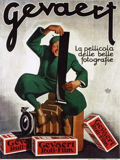 Gevaert film advertising by Gino Boccasile (1931)
