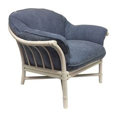 McGuire Furniture Rattan Bamboo Lounge Chair on Chairish.com