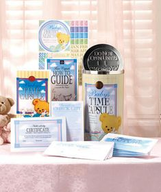 Baby Time Capsule set - perfect Baby shower gift. Unique, creative, keepsake gift set. If LTD is out of stock, get yours at www.timecapsule.com
