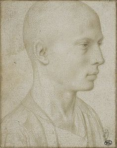 Gerard David, portrait of a young man with a shaved head, 2nd half of the 15th century, Low Countries. Silverpoint sketch. Vallardi Codex, 2320 r, Louvre, Paris.