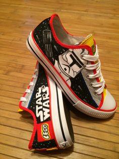 Lego Star Wars, Zapatillas de niño pintadas a mano. A pedido