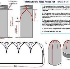 fleece hat how-to - looks perfect to do in felt for an under Viking style helmet
