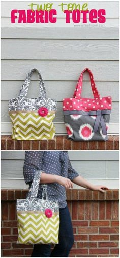 Easy Two Toned Tote