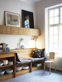 Home Interior Design. Cosy reading nook.