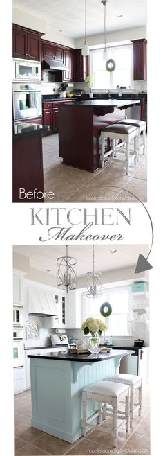 23 Neat Clutter-Free Kitchen Countertop Ideas to Keep Your Kitchen in Tip-top Shape - The Trending House Kitchen Cabinet Remodel, Diy Kitchen Remodel, Painting Kitchen Cabinets, Kitchen Paint, Kitchen Redo, Kitchen Design, Kitchen Ideas, Kitchen White, Country Kitchen