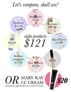 Mary Kay! Very affordable!