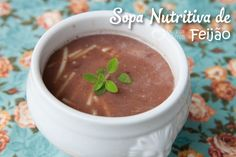 Sopa nutritiva de feijao