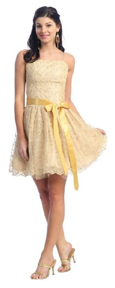short gold prom dresses- would wear for homecoming!